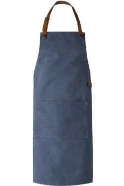 washed canvas schort blauw