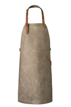 leather apron grey