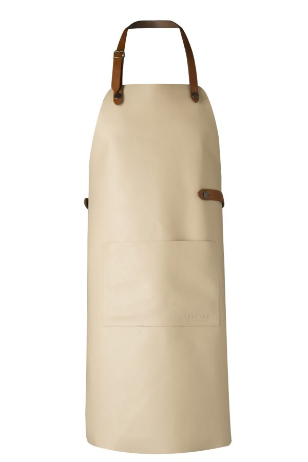 classic leather apron mint off white