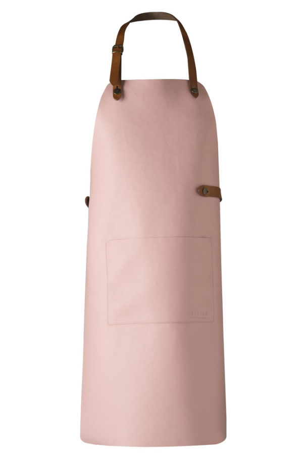 classic leather apron pink
