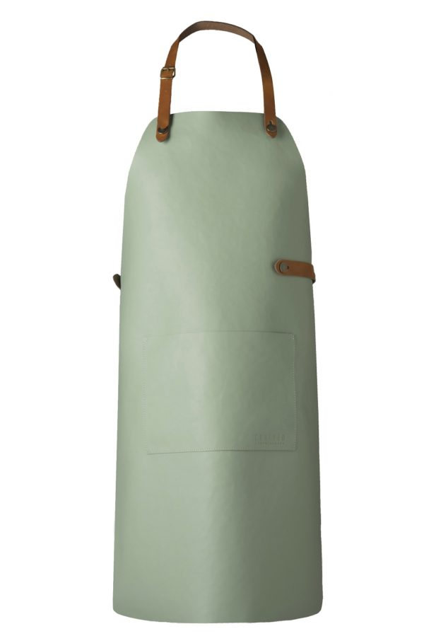 classic leather apron mint