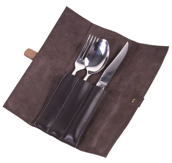 leather cutlery roll