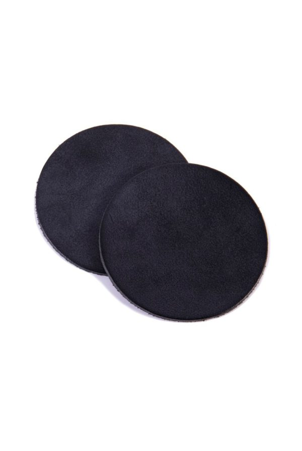 leather coaster black