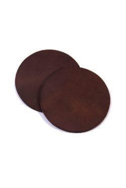 leather coaster brown