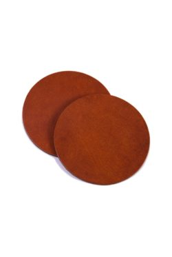 leather coaster cognac