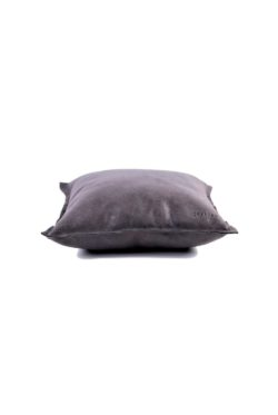 leather cushion grey