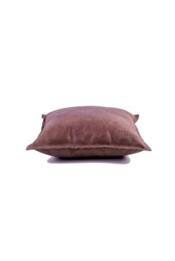 leather cushion taupe