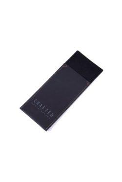 leather cutlery pocket black