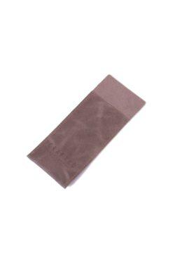 leather cutlery pocket grey