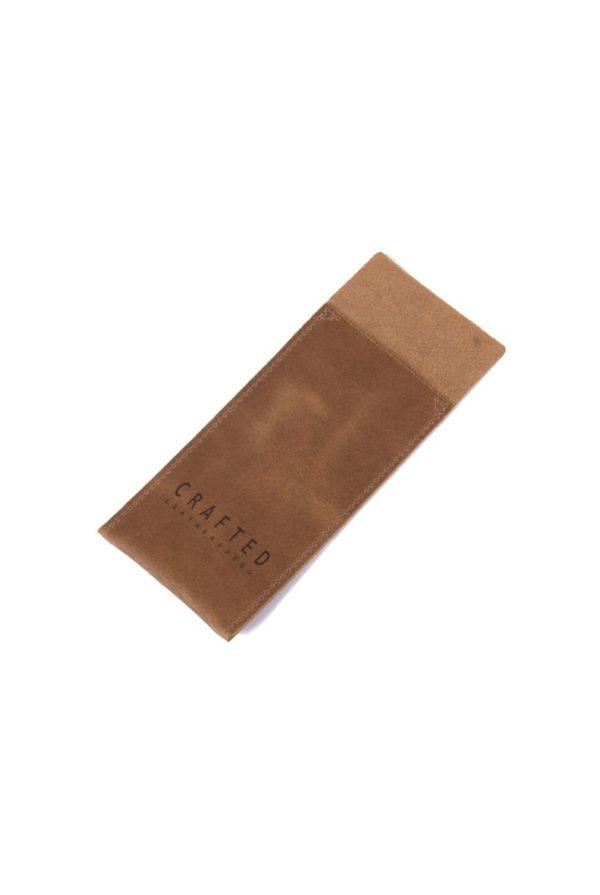 leather cutlery pocket sand