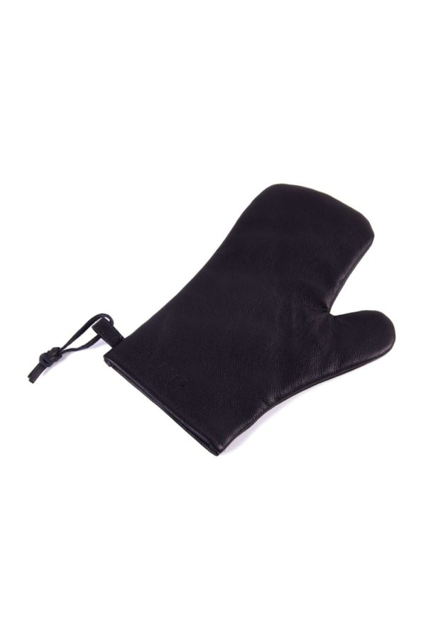 leather oven glove black