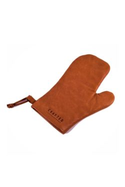 leather oven glove cognac