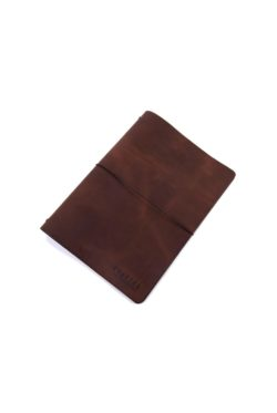 leather menumap A4 brown