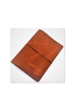 leather menumap A4 cognac