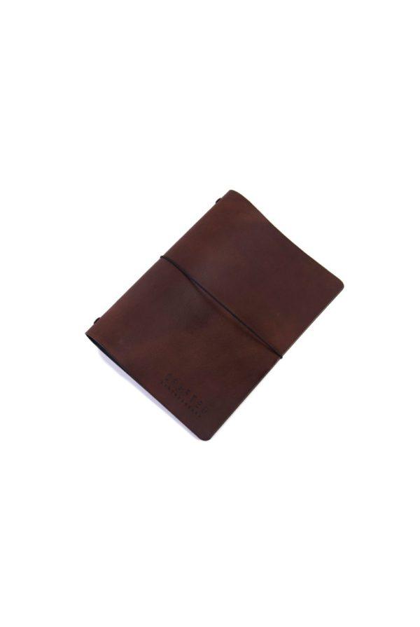leather menumap A5 brown
