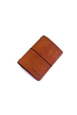 leather menumap A5 cognac