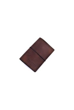 leather bill holder brown