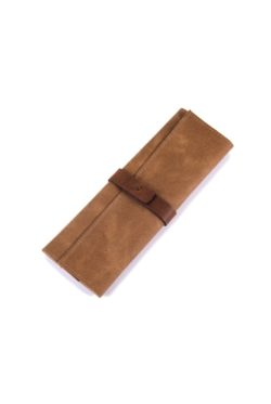 leather cutlery roll sand