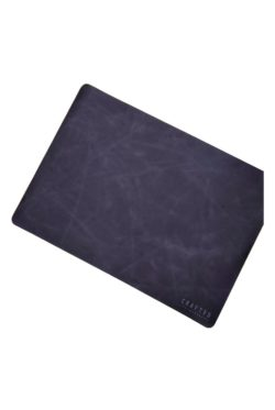 leather placemat black