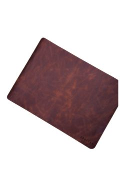 leather placemat cognac