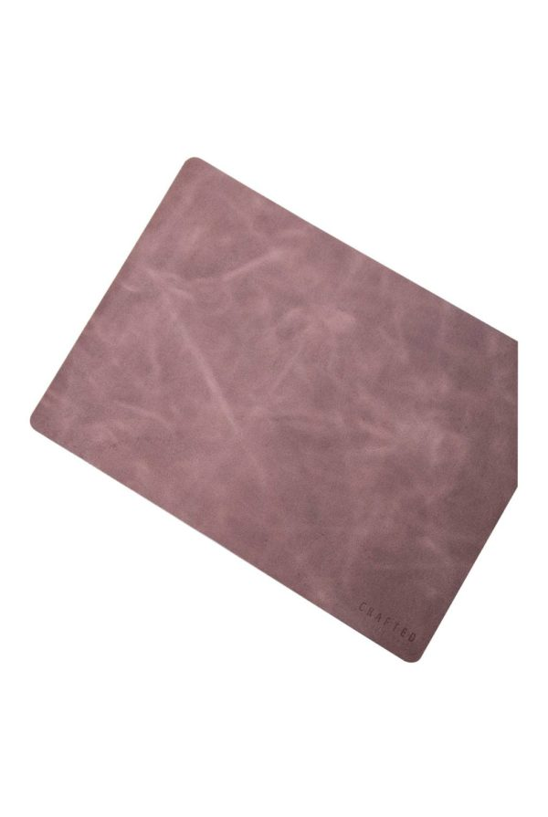 leather placemat grey