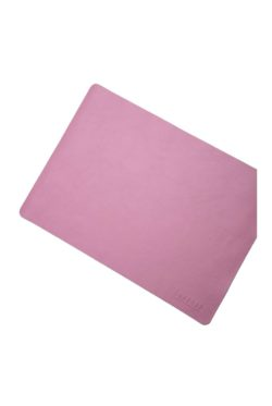 leather placemat pink