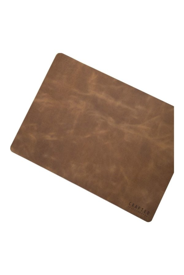leather placemat sand