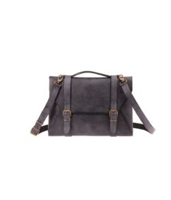 leather laptopbag black
