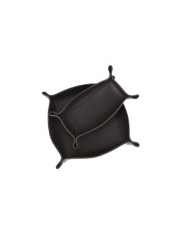leather basket black