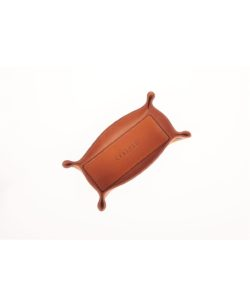 leather basket cognac