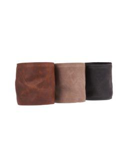 leather flower pot