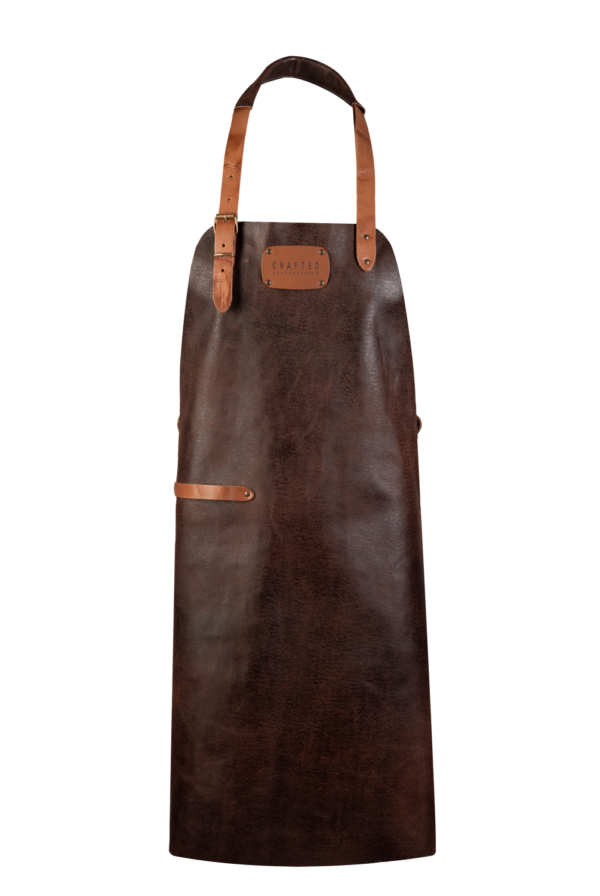 leather apron brown